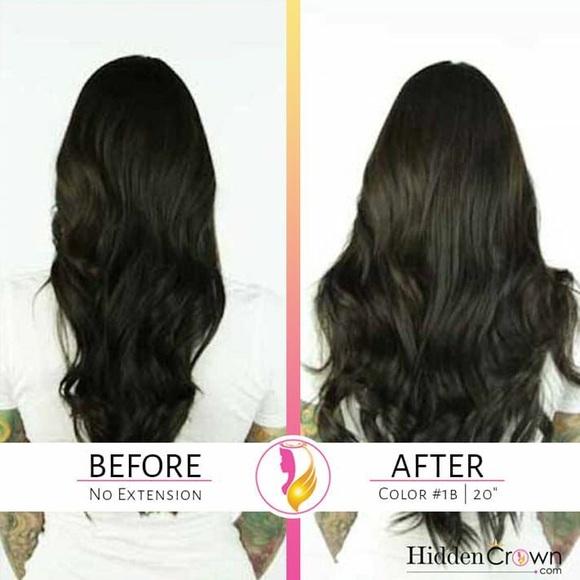 Other Hidden Crown 100 Human Hair Halo Extension Poshmark